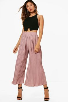 Remy Pleated Wide Leg Culottes