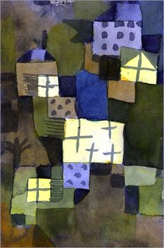 Paul Klee - With Yellow Windows