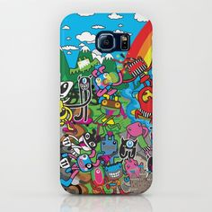 I love my illustration turn into usable art piece. :-) Visit Plushism in Society6. This phone case is for Samsung Galaxy S7. :-)