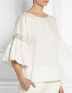 PHILOSOPHY Embroidered cotton top