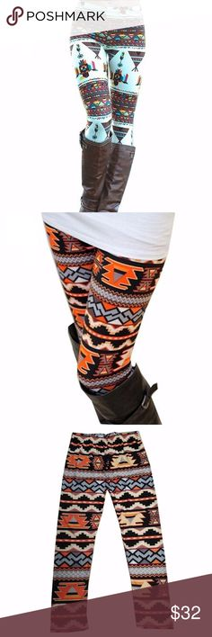 """Autumn Thanksgiving Fall Stretchy Leggings Coming Soon! ❤️Like to follow & receive a price drop notification when they arrive! Cute, cute, cute! Adorable fall-themed polyester/spandex printed leggings! Cute geometric tribal and harvest prints with generous sizing that's true to adult pants sizes 4 to 8! Elastic waist. Measurements: 25"""" up to 35"""" waist, 30"""" up to 37"""" hips, 31"""" length. No trades/holds. Bundle for 10% off! Pants Leggings"""
