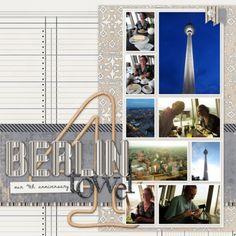 Berlin Tower layout by Marisa Lerin | Pixel Scrapper digital scrapbooking