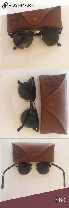 Authentic Ray Bans. Worn once. Authentic Ray Bans. Excellent condition. Worn once. Not my style, given to me as a gift. Ray-Ban Accessories Sunglasses
