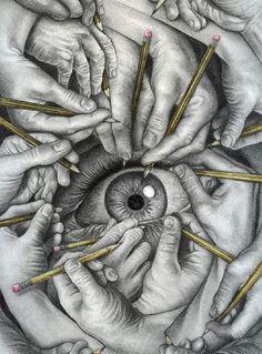 Drawn to See - Graphite illustration by Pennsylvania artist James Lincke
