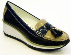 Maxine Geox By Patrick Cox Retro Indie Wedge Shoes $211.79