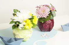 Centros de mesa con hortalizas y flores Diy Decorating, Vegetables Garden, Bud Vases, Centerpieces, Mesas, Creativity, Home
