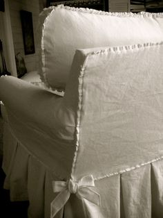 pleated detail on slipcovers