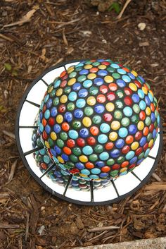 bowling ball yard art (1) by joeat, via Flickr