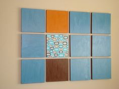 Easy wall art using canvas, scrapbook paper and Mod Podge!