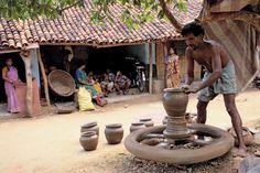 Art Village, Indian Village, Goa India, Village House Design, Sculpture Lessons, Rural India, Amazing India, Krishna Painting, Scenery Wallpaper