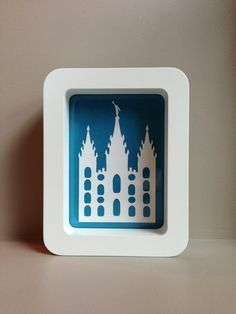 Super Cute Temple Art. Would make a great gift for primary YW or hang in your kid's bedroom!! Etsy!