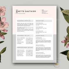 Resume Design | CV Template for Word by Botanica Paperie on @creativework247