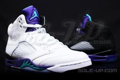 Air Jordan V Grape vs. Black Grape Comparison
