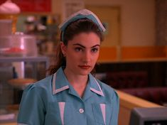 The amazing (and famous) Twin Peaks diner dress! :-) I think there's a pretty strict copyright on this one, as these cool diner dresses were worn in almost every episode of Twin Peaks. I mean, they're...