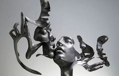 Dissolving Figurative Sculptures by UNMASK. - Design Is This