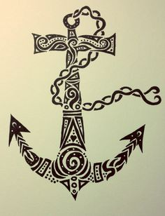 Tribal Anchor by TheRebornWolf. like this - with celtic knots perhaps??