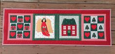 Christmas Table Runner Hot Cold Insulated by PeggyGaylerDesigns
