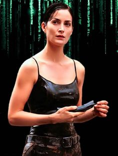 Trinity (From the Matrix) Canadian Actresses, Actors & Actresses, The Matrix Movie, Man In Black, Beatles, Carrie Anne Moss, Foreign Movies, Movies And Series, Bollywood