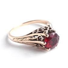 Image result for edwardian filigree ruby ring