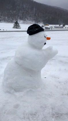 This was the pastor letting them have it at the tent revival meeting. One thing a snowman certainly doesn't need is fire and brimstone!