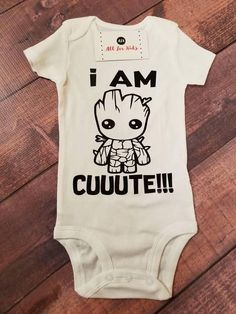 Baby Clothes I Am Groot Cute Bodysuit Guardians of The #babystuffproducts