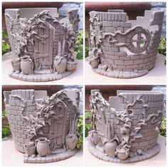 Secret walled garden yarn bowl Unfired by earthwoolfire Click the link to visit our site Ceramic Clay, Ceramic Painting, Ceramic Pottery, Pottery Art, Ceramics Projects, Clay Projects, Clay Fairy House, Pottery Houses, Clay Fairies