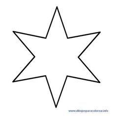 Estrella 6 Puntas Estrellas Para Imprimir Actividades Navidenas Preescolares Forma Geometrica
