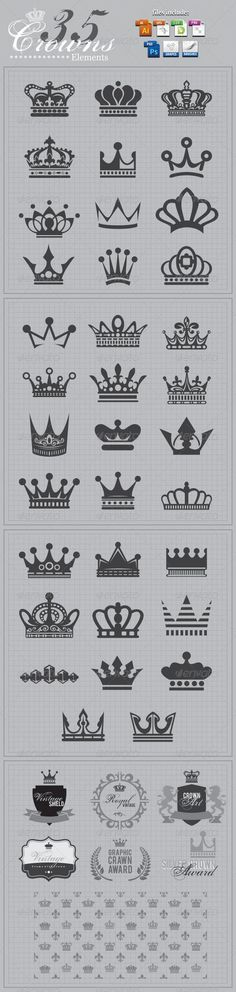 Crowns Elements v2 - Man-made Objects Objects