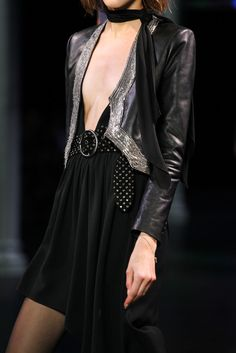 Saint Laurent Spring 2015 Ready-to-Wear - Details - Gallery - Look 1 - Style.com