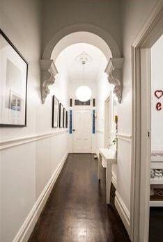 Idea: hallway, wood floor, archway