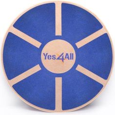 Yes4All Wooden Wobble Balance Board – Exercise Balance Trainer (15.75-inch Diameter), Blue