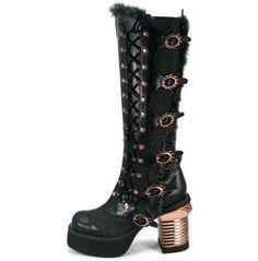 Hades Shoes Women's Langdon Black Steampunk Boots