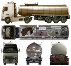 post-apocalyptic tanker truck home.....hmmmm tight fit!