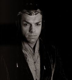 Hugo Weaving as Elrond... I always want to go up and hug him.