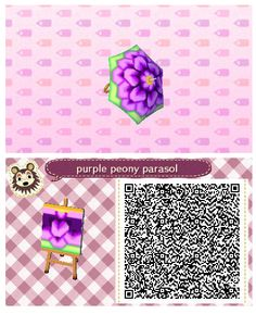 Purple Peony Parasol by Quirkberry - Animal Crossing: New Leaf