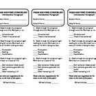This peer editing checklist works great for students to critique each other's introductory paragraphs for a research paper. This form considers the...