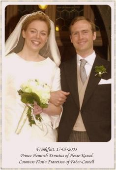 Moritz and Tatiana's eldest son, Heinrich Donatus, wed Countess Floria von Faber-Castell, on 17 May 2003