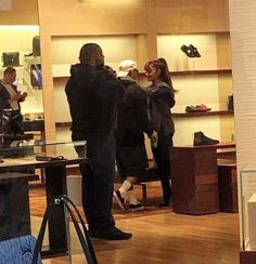 -NEW PHOTOS- Ariana Grande and Mac Miller at South Park Mall earlier today.