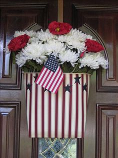 Star Spangled Door Bucket  Get this look @ http://karenkazmorck.store.willowhouse.com/search.aspx?keyword=door%20bucket