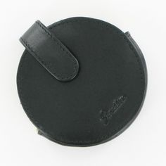 Stratton Round Black Leather Compact Case Medium #Jewellery #Accessories Black Media, Saddle Bags, Compact, Chloe, Black Leather, Jewellery, Medium, Accessories, Jewels