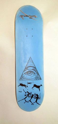Scott Sjobakken Hand Painted Skateboard Deck.  This deck was created for The Dark Slide Spring 2014 Skateboard Deck Art Show at Eronel in Dubuque, IA.  *note this deck is in the show currently and will not ship out until the first part of July.  Here's a little info on Scott.  He was born in Dubu...