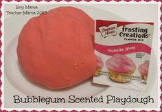 Boy Mama: Bubble Gum Scented Play Dough