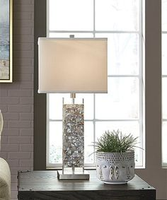 This Cream Tahira Shell Table Lamp is perfect! #zulilyfinds