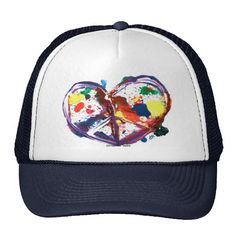 peace heart trucker hats