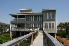 Heniford House - This is a fantastic 8 bedroom 7 bath home in the Ocean Drive section of North Myrtle Beach, SC. Great for large families. This home is ocean front.