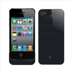 iPhone 4 4S External Solar Powered Battery Charger Case Kayo Brand 1700 mAh by Kayo, http://amzn.to/LQsLdM