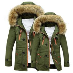 d147e3f1fc1 Warm Winter Hooded Fur Jacket