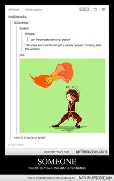 Zuko bends Flame Princess (Adventure Time ≈ Avatar)