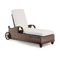 Martin Chaise Lounge With Cushions - Bordeaux Linen Sangria, Special Order - Frontgate Patio Furniture Covers, Outdoor Garden Furniture, Bordeaux, Four Seasons Room, Lounge Cushions, Replacement Cushions, Table Covers, Sun Lounger, Love Seat