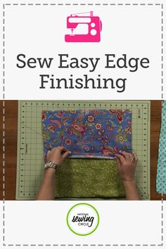 If you're like most people with lots of sewing projects to finish, you want the best way to do things, but also the quickest and easiest way too. Tara Rex shares a few sewing tips on how she saves some time finishing edges on a quick pillow project. Tara shows how she finished the edges of a fabric first before she even cuts what she needs for the pillow back. This way, after you finish your pillow front you can simply cut the fabric in half, overlap the finished edges and stitch your…